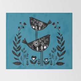Danish Birds Bring Good Luck And A Good Life Throw Blanket