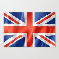 british flag Canvas Prints featuring UK / British waving flag by GoodGoods