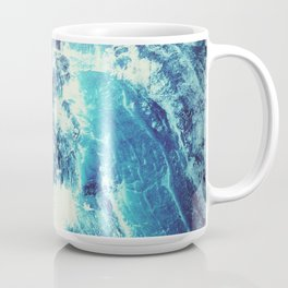 Blue Crashing Wave // Lunar Ocean Storm // Surreal Space Coffee Mug