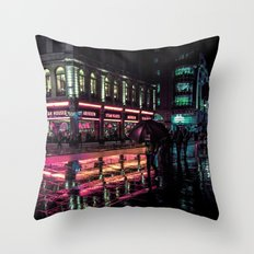 London Nights Throw Pillow