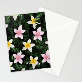 Leave Me Aloha in Black Stationery Cards