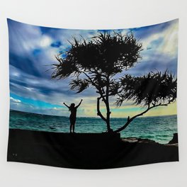 Woman Under a Palm Wall Tapestry