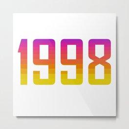 1998 Vintage Logo Metal Print