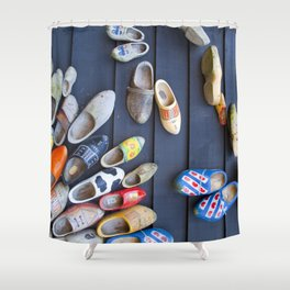 Wodden shoes Shower Curtain