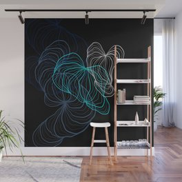 Gray, blue and white / digital drawing Wall Mural