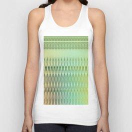 Iridescent metallic tones and decorative stripes Unisex Tank Top