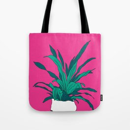 Bright pink potted plant Tote Bag