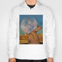 atlas Hoodies featuring Atlas by Michael Creese