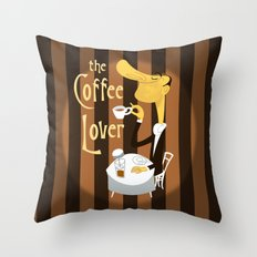 The Coffee Lover Throw Pillow