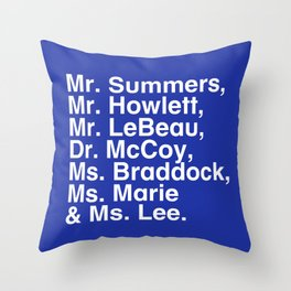 Tribute 4 - X-Men (Blue team) Throw Pillow