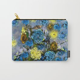 HYDRANGEA AND ROSES Carry-All Pouch