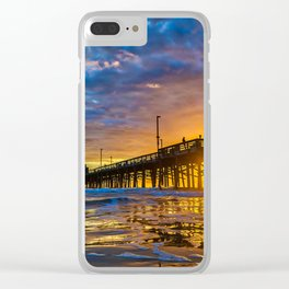 Low Angle Sunset at Newport Pier. Clear iPhone Case