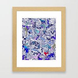 Kamasutra LOVE - Ultraviolet Purple Blue Framed Art Print