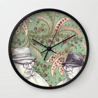 men Wall Clocks featuring Old Men by Jason Ratliff