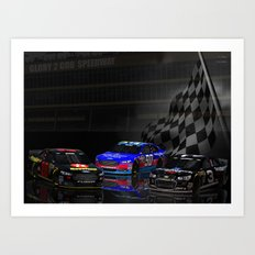 Yes, they have #NASCAR in Heaven! Art Print