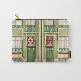 vintage town house Carry-All Pouch