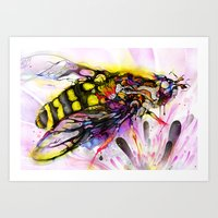 bee Art Prints featuring Bee by shadow chen