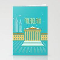 philadelphia Stationery Cards featuring Philadelphia by Marina Design