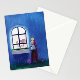 SANJI in the rain   One Piece   Print   Painting Poster   Charlotte Pudding   817   ANIME   MANGA #A Stationery Cards