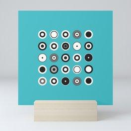 Circles Turquoise Mini Art Print