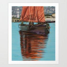 Mystery Ship Art Print