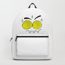 Hand drawn funny face Backpack