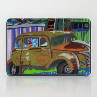 moriarty iPad Cases featuring Old Car, Moriarty, New Mexico by Juniper Knolls