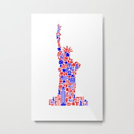 Liberty red-blue Metal Print