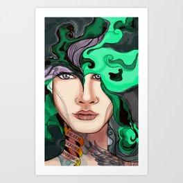 Drowning Beauty Art Print