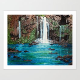 The Concealed Oasis Art Print