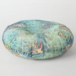 The Blue Dragon Floor Pillow
