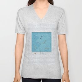 Grid pool session Unisex V-Neck