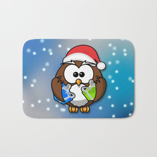Christmasowl Bath Mat