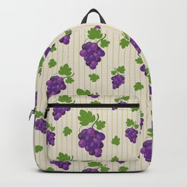 Pattern grape background stripe Backpack