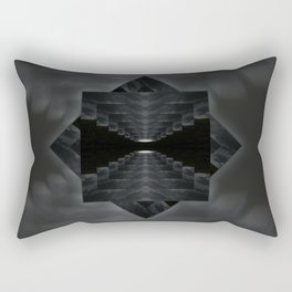 Clouds at night mandala Rectangular Pillow