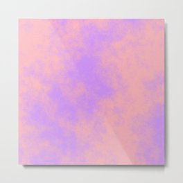 Cotton Candy Clouds - Pink & Purple Metal Print