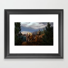 The Knight of the Kingdom Framed Art Print