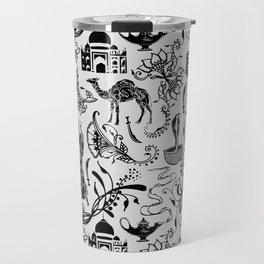 Arabian Nights // Light Grey Travel Mug