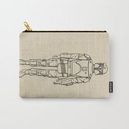 Boba Fett Art Print Illustration, Vintage StarWars, Bounty Hunter, Wall Art, Empire Strikes Back Carry-All Pouch