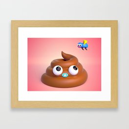 "BFFLs ""Fly & Poop"" 💩🐝💕 Framed Art Print"