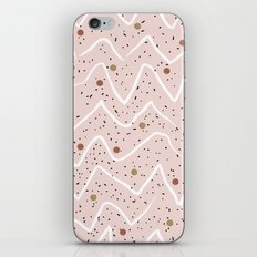 Lines & texture circles iPhone & iPod Skin
