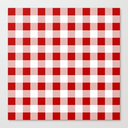 Red and White Check Canvas Print
