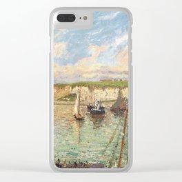 """Camille Pissarro """"L´Avant-port de Dieppe, après-midi, temps lumieneux"""" The Outer Harbour, Dieppe on"""" Clear iPhone Case"""