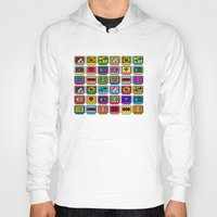 8 bit Hoodies featuring 8-bit Game Cartridges by Raven Jumpo