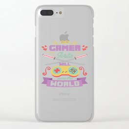 Funny Gamer Gaming Geek Nerdy Accessories Gift Clear iPhone Case
