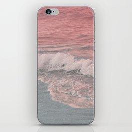 Pink Waves Beach iPhone Skin