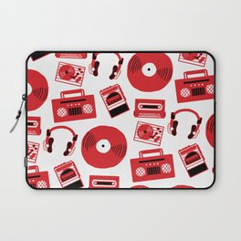 Red Music Laptop Sleeve