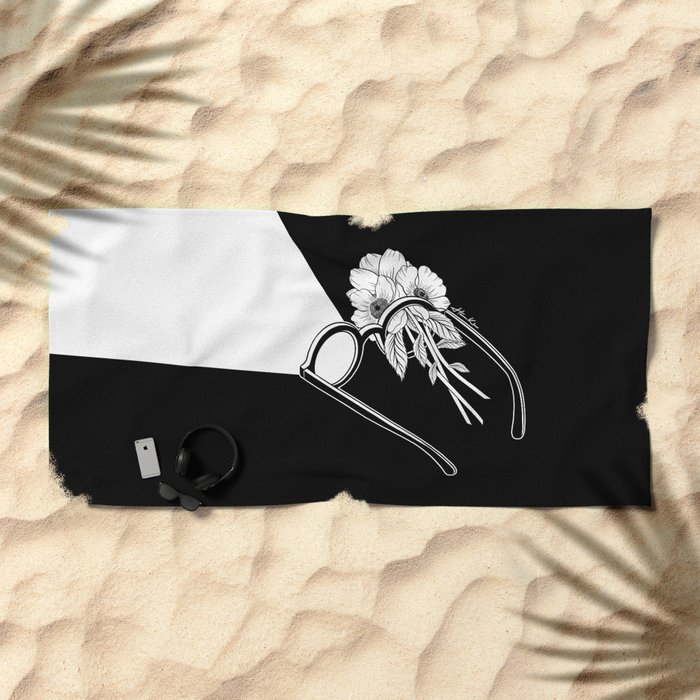 One Headlight Beach Towel