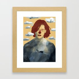 Head over heels Framed Art Print