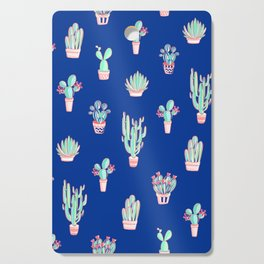 Little cactus pattern - Princess Blue Cutting Board